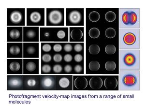 velocity-mpa images from a range of small molecules
