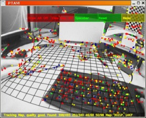 Image from Licence Details: PTAM augmented reality software