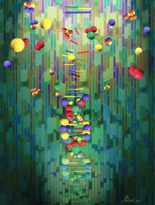 Mapping a genome, conceptual artwork