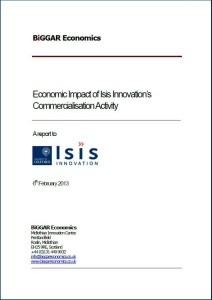 Publication cover image from Economic Impact of Oxford University Innovation's Commercialisation Activity file