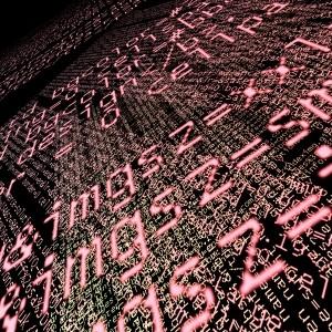 computer code artwork