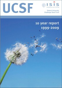 Publication cover image from Oxford University Challenge Seed Fund 10 year report file